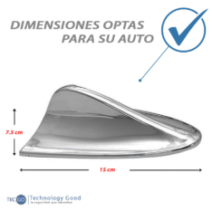 Antena De Auto Tiburon Decoratiiva Cromada
