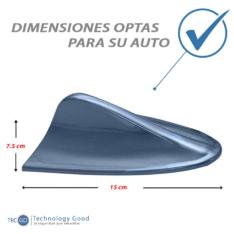 Antena De Auto Tiburon Decoratiiva Azul