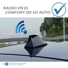 Antena De Auto Tiburon Am/Fm Rojo