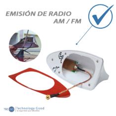 Antena De Auto Tiburon Am/Fm Azul