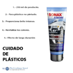 Restaurador De Plasticos De Auto Sonax 250ml