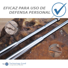 Vara Retractil Para Defensa Personal Plata