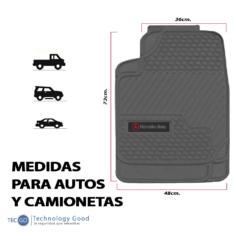 Piso De Auto Tipo Mercedes Benz 3Pzas Negro