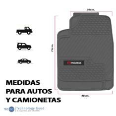 Piso De Auto Tipo Mazda  3Pzas Negro
