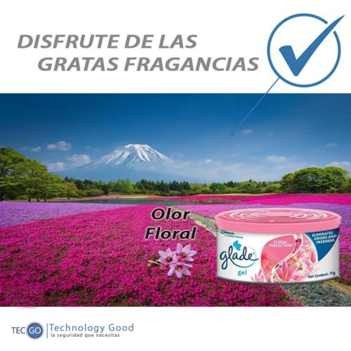 Ambientador Floral Glade En Gel/aroma/fragancia/auto