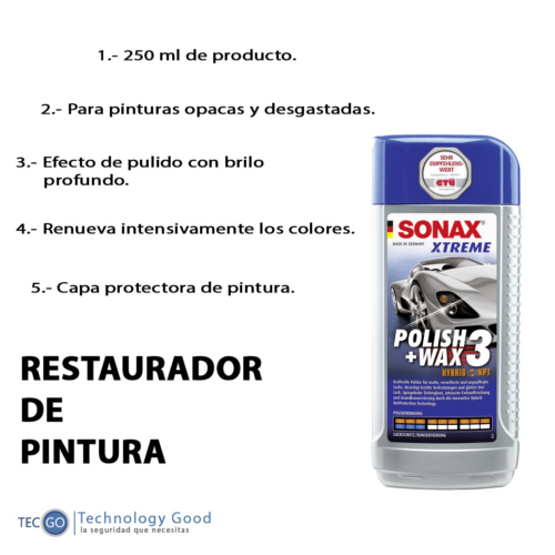 Polish + Wax 3 Sonax/pulidor/cera/brillo