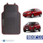 Piso De Auto Sparco 3 Pzas/tapiz/protector/suelo/rojo