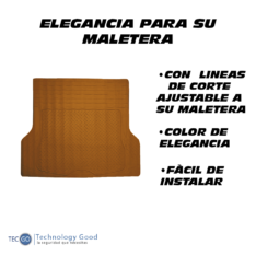 Piso De Maletera PVC Marrón
