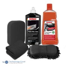 Kit De Tratamiento De Pintura Para Auto Negro Sonax Cera