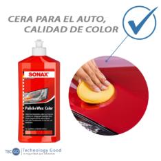 Kit De Tratamiento De Pintura Para Auto Rojo Sonax Cera
