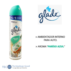 Ambientador Spray Paraiso Azul 400 Ml Glade