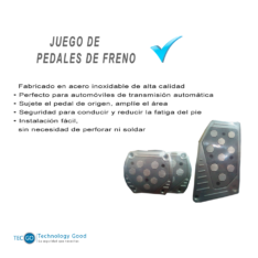JUEGO CUBRE PEDALES DEPORTIVO PLATEADO (PE002)